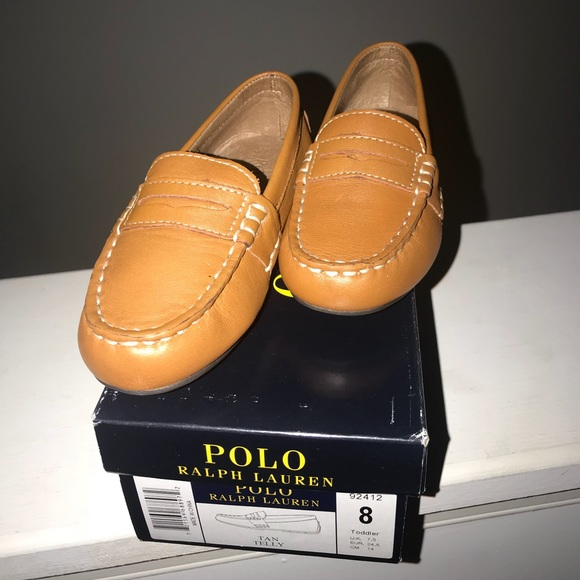 162fa6095be Ralph Lauren Telly Leather Penny Loafer - Toddler.  M 5afa49f98290af8296efd710